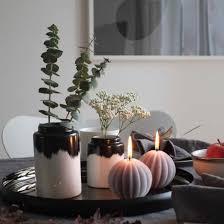 Wohnzimmer Deko Kerzen Skandinavische Esstisch Deko Herbst Kerzen Blog