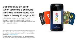 gift card vendors free 30 gift card with samsung pay on galaxy s7 doctor of credit