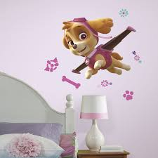 paw patrol giant skye peel and stick wall decals