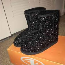 s ugg boots black 44 ugg shoes black bedazzled uggs from dominique s closet