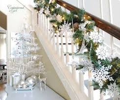 Christmas Decorations Banister 22 Beautiful Christmas Decorations For Stair Ideas Home Design