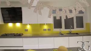 canary yellow kitchen splashback