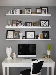 wall shelves above desk 3 tier white stained wooden decorative floating shelf 17 best ideas about