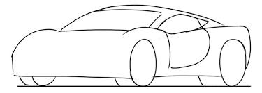 car drawing tutorial sports cars 3 4 front junior car designer