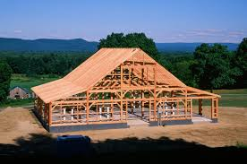 Pioneer Pole Barns 60 U0027 X 49 U0027 Saratoga Timber Frame Barn Franklin County Ma The