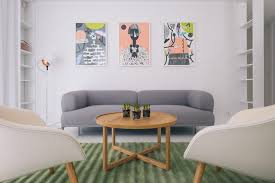 Cheap Living Room Furniture Packages Green Rug Wooden Table White Chairs Comics Soft Colours