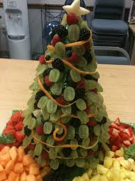 christmas tree shaped fruit tray for the holidays somebody