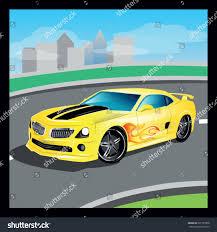 cartoon sports car yellow luxury vector cartoon sports car stock vector 291729398
