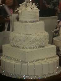 wedding cakes with bling a four tier bling wedding cake decorated with rhinestone diamante