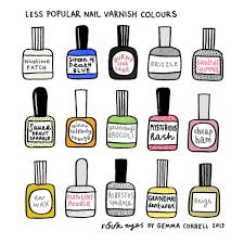 less popular nail varnish colours an art print by gemma correll