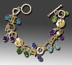 colored stone bracelet images Colored gemstone gold bracelet jpg