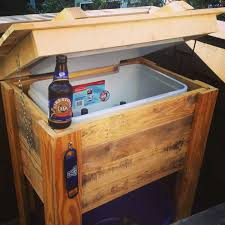 Patio Table Beer Cooler How To Build A Cooler Stand From Pallets