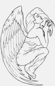 classy cool praying angel tattoo design idea golfian com