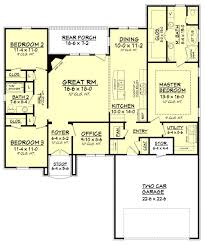 european style house plan 3 beds 2 baths 1826 sq ft plan 430