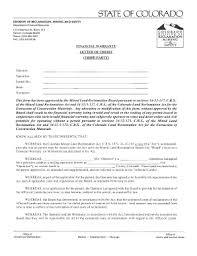 Financial Warranty Letter fillable free cease and desist letter template edit print