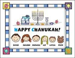 hanukkah stickers personalized family stick figure christmas cards and chanukah