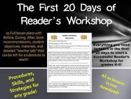 first 20 days of reader u0027s workshop reading workshop mini lessons
