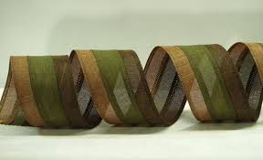 colored burlap ribbon wired royal burlap ribbon 2 5 inch brown fern moss tri