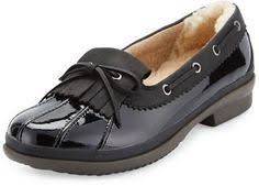 ugg haylie sale ugg haylie waterproof patent loafer flats the is flat