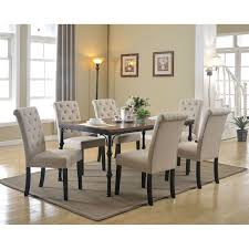 Cheap Dining Room Furniture Sets Morgana Tufted Parsons Dining Chair Set Of 2 Hayneedle