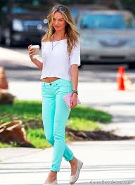 Mint Colored Skinny Jeans 26 Ways To Wear Mint Green Styles Weekly