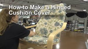 How To Cover Patio Cushions by How To Make A Hinged Cushion Cover Youtube