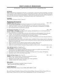 Finance Sample Resume by Sample Financial Services Resume Free Resume Example And Writing