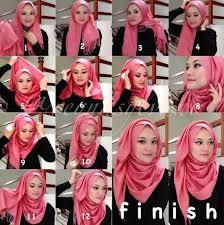 tutorial hijab pashmina kaos yang simple hijab pashminaa cara berhijab pashmina kaos images