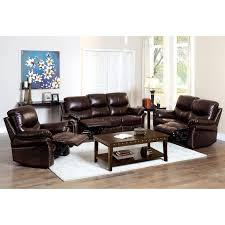 Loveseat Black Leather Furniture Of America Norfolk Bonded Leather Loveseat With Nailhead