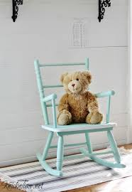 Unfinished Child S Rocking Chair Vintage Child U0027s Rocking Chair Makeover Via Knickoftime Net