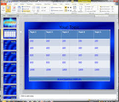 jeopardy template for microsoft powerpoint 2010 making a jeopardy