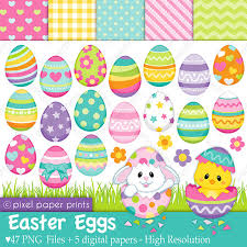 paper easter eggs easter eggs clip and digital paper set by pixel paper prints