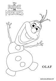 coloriage olaf le petit bonhomme neige free printable