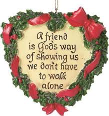 friend wreath ornament