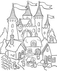 house drawing for kids to colour gingerbread house coloring pages