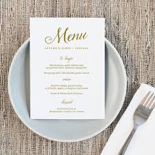 wedding menu templates printable wedding menu wedding menu template script
