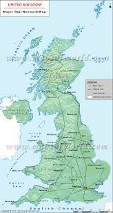 Blank Map Britain uk rail map uk rail network map