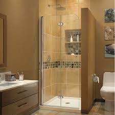 Glass Door Shower Dreamline Aqua Fold 72 X 29 5 Folding Semi Frameless Shower Door