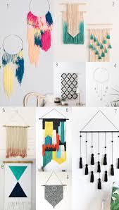 20 easy diy yarn art wall hanging ideas yarns modern wall and