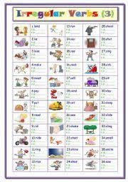 english worksheets irregular verbs worksheets page 4