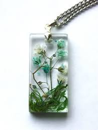 resin flower necklace images Pressed flower necklace real flower jewelry resin flower pendant jpg