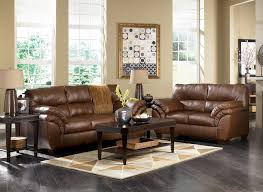 Ashley Furniture Leather Loveseat Warren Brown Sofa Loveseat And Rocker Recliner Set Sofas