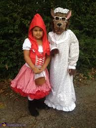 Red Riding Hood Halloween Costumes Red Riding Hood Big Bad Wolf Costume Kids