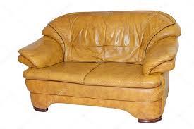 Yellow Leather Sofa Yellow Leather Sofa U2014 Stock Photo Borisblik 104117058