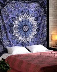 black blue wall tapestry floral mandala tapestry hanging wall