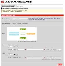 Reservation Desk Com How To Use The Jal Com Site To Book Japan Mileage Bank Awards
