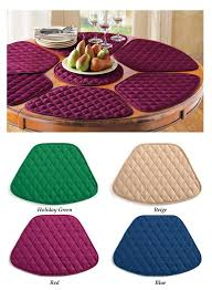 amazon com round table placemats set of 7 burgundy home