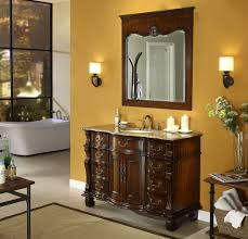 Bathroom Vanities Free Shipping by Adelina 50 Inch Antique Bathroom Vanity Brown Marble Countertop