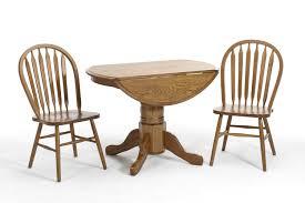 Drop Leaf Oak Table Classic Oak 42 Drop Leaf Pedestal Dining Table By Intercon