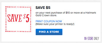 hallmark 5 10 coupon money saving